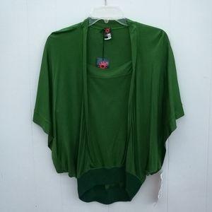 Jean Paul Gaultier Soleil Green Batwing Blouse NWT